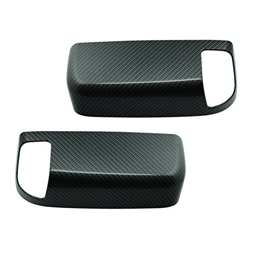 EAG 09-16 Dodge Ram 1500 10-16 Dodge Ram 2500/3500 Towing Mirror Cover With Turn Signal Light Hole Black Carbon Fiber Look ABS Upper ()