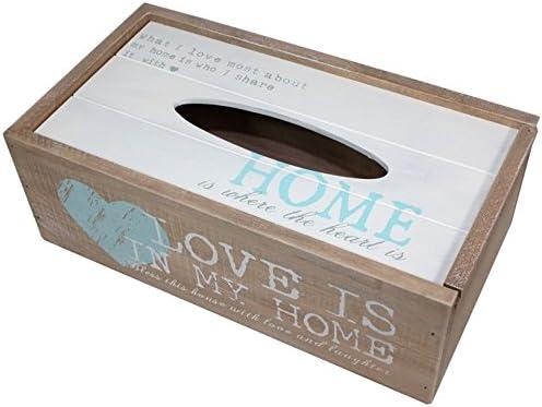 Madera Shabby Chic caja de pañuelos soporte de nuevo diseño ...