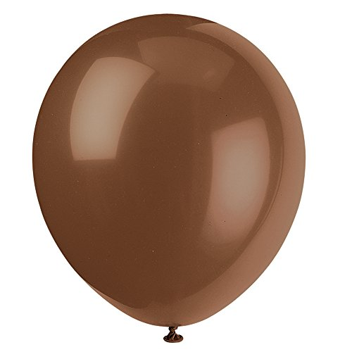 12 Latex Brown Balloons 10ct
