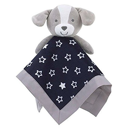 Carter's Child of Mine Baby Boys Stars Puppy Lovey Security Blanket, Blue