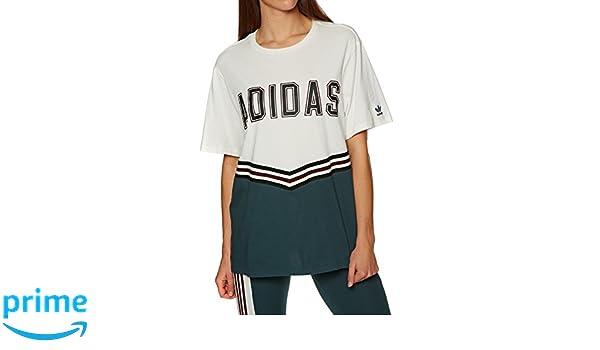 adidas Adibreak SS tee Camiseta, Mujer, Blanco (Blatiz/mednoc), 34: Amazon.es: Deportes y aire libre