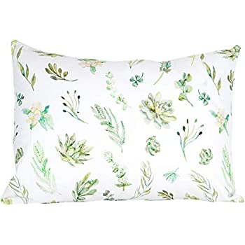 Soft Monochrome Animals Fits Both 13x18 and 14x19 Pillows Durable /& Breathable 100/% Organic Toddler Pillowcase by ADDISON BELLE