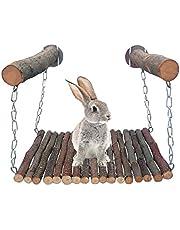 YMZ Konijn Hamster Hangmat Apple Houten Swing Pedaal voor Chinchilla Eekhoorn Cavia Kleine Huisdier