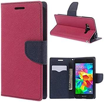 outlet store d561a 45e28 Batu Lee Vivo Y21/Y21L PU Leather Flip Cover Diary Case Cover (Pink)