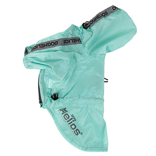Dog Helios 'Torrential Shield' Waterproof Multi-Adjustable Pet Dog Windbreaker Raincoat, Medium, Green by Pet Life (Image #7)