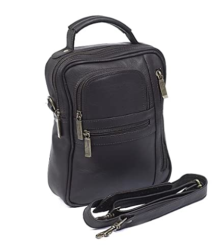 Claire Chase Medium Man Bag, Cafe, One Size - Claire Chase Leather Messenger
