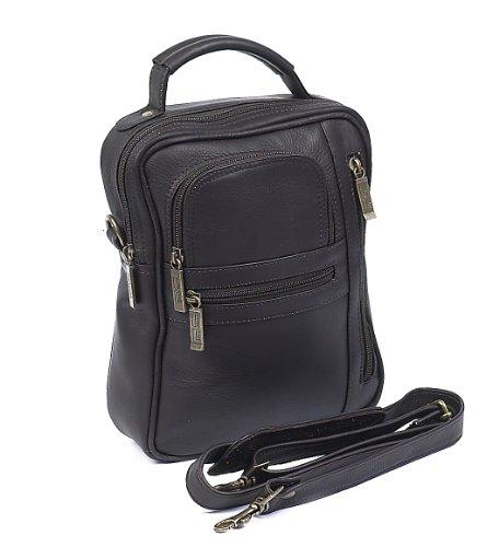 Claire Chase Medium Man Bag, Café (Braun) - 406 Café