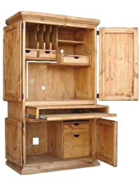 Perfect RR Rustic Western Wall Computer Armoire