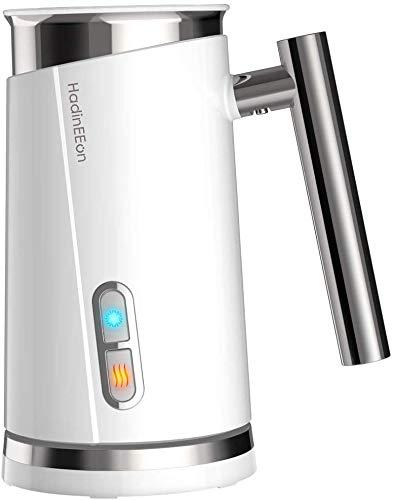 HadinEEon Milchaufschäumer elektrisch 300ml 500w Edelstahl Automatischer Milchschäumer Erhitzen und Aufschäumen für heiße und kalte Milch, Weiß