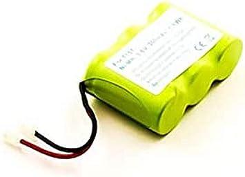 Batería para teléfono inalámbrico Universal, Panasonic, Sanyo, Sony, NiMH, 3,6 V, 300 mAh: Amazon.es: Electrónica