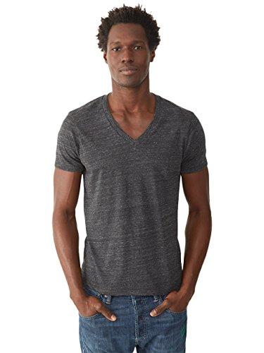 Alternative Men's Boss V-Neck T-Shirt, Eco True Black, Large