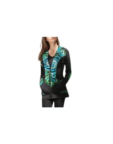 Aller Simplement - Algodón chaqueta con cremallera manga larga con bolsillos de campana 2 ir simplemente SW1114