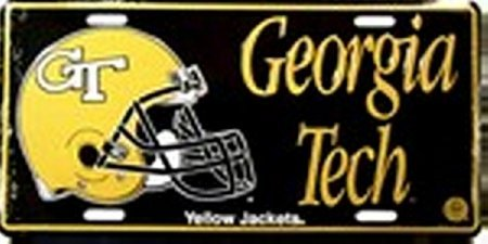 College License Tag - Georgia Tech [helmet] Yellow Jackets - College LICENSE PLATES Plate Tag Tags auto vehicle car front
