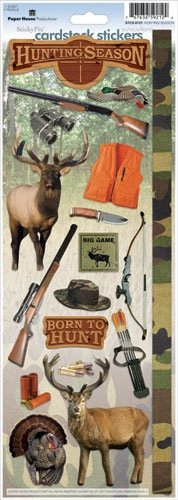 Paper House STCX-0121E Cardstock Stickers, Hunting Season