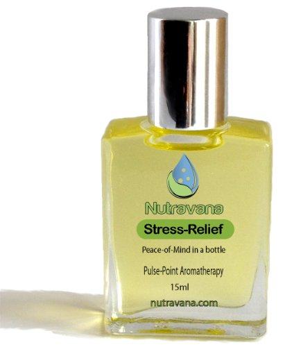 «Stress Relief 'Natural Roll On - anxiété, la tension releveur pour Détente & Stress Reduction - une plante médicinale pour les adultes, adolescents, enfants, enfants afin de réduire, soulager le stress -Blends Meilleur Aromathérapie huiles essentielles p