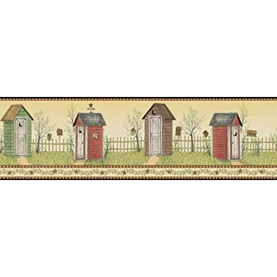 York Wallcoverings Country Outhouse Border