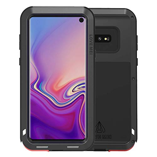 Giosio for Galaxy S10 Metal Case, Armor Alloy Aluminum Non Slip Cover 360 Degree Full Body Hybrid Military Heavy Duty Drop Protection Shockproof Protective Case ()