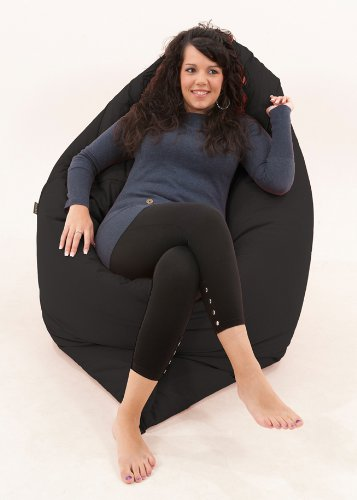 RAVIOLI GIANT   Bean Bag Chair Beanbag Floor Cushion (Black): Amazon.co.uk:  Kitchen U0026 Home