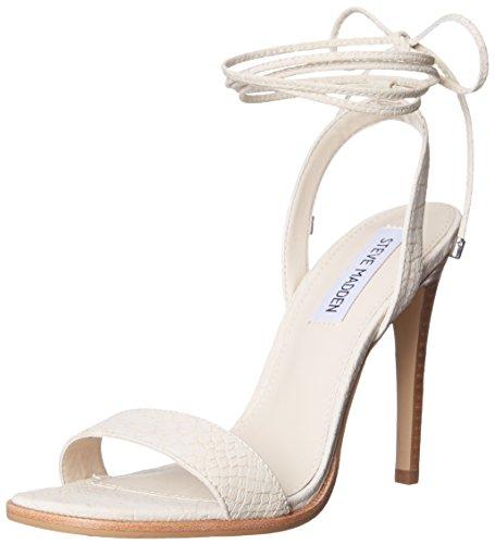 Steve Madden Women's Faithful Dress Sandal, Natural Snake, 8.5 M US