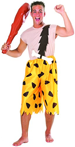 Pebbles And Bam Bam Adult Costumes - Rubie's Men's The Flintstones Bamm-Bamm Adult Costume, Multi, One