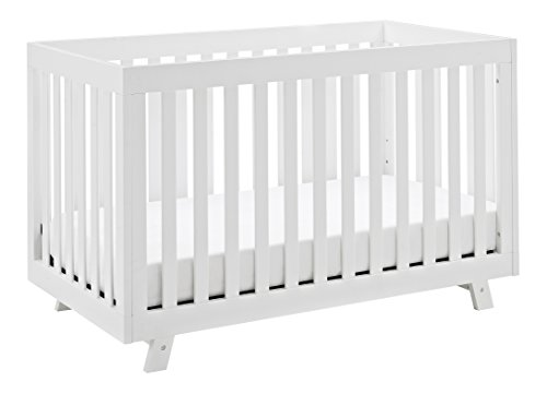 Storkcraft Beckett 3-in-1 Convertible Crib White Fixed Side Crib, Solid Pine and Wood Product Construction, Converts to Toddler Bed Day Bed or Full Bed (Mattress Not Included)