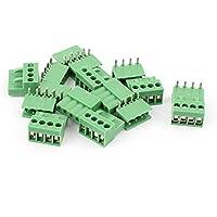 5 Paar Grün 4P 3.81mm Abstand Leiterplatten  Steckverbinder Klemmenblock 300V 8A