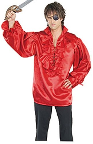 Rubie's Pirates of the Seven Seas¿ Red Satin Pirate Shirt - Adult Standard Costume ()