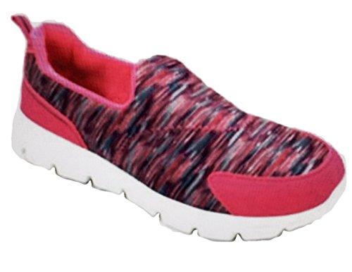 Danskin Now Girls Memory Foam Slip-on Athletic Shoes (5 M US Kids, Pink)