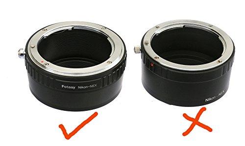 Fotasy Nikon Lens to Sony E-Mount NEX Camera NEX-5N NEX-5R NEX-5T NEX-6 NEX-7 a6300 a6000 a5100 a5000 a3500 a3000 NEX-VG30 NEX-VG900 NEX-FS100 NEX-FS700 NEX-EA50 PXW-FS7 Adapter