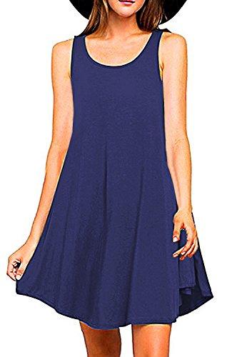 Merryfun Womens Sleeveless T Shirt Sundress product image