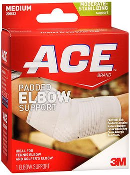 Ace Padded Elbow Support Medium - 1 each, Pack of 5 by ACE