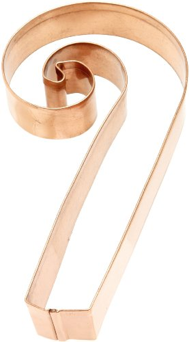 Old River Road Candy Cane Shape Cookie Cutter, Copper