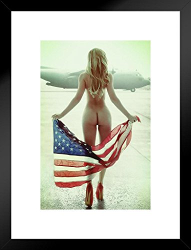 (Poster Foundry Flown Flag by Daveed Benito Matted Framed Wall Art Print 20x26 inch)