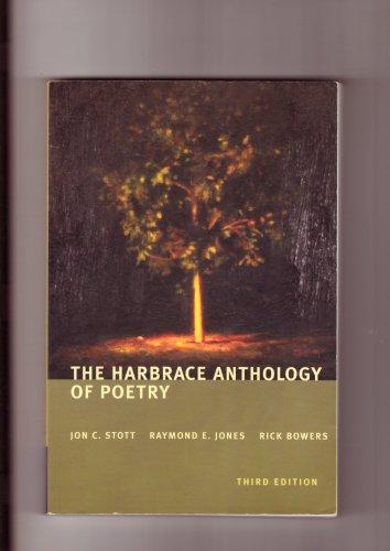 HARBRACE ANTHOLOGY OF POETRY 3RD ED.-- JON C STOTT ET AL
