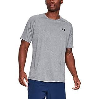 Under Armour Men's Tech 2.0 Short-Sleeve T-Shirt , Steel Light Heather (036)/Black , Large