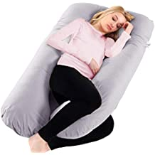 Ylovetoys Pregnancy Pillow, Pregnant Full Body Pillow U Shaped Maternity Pillow Nursing Cushion with Washable Cover (Grey)