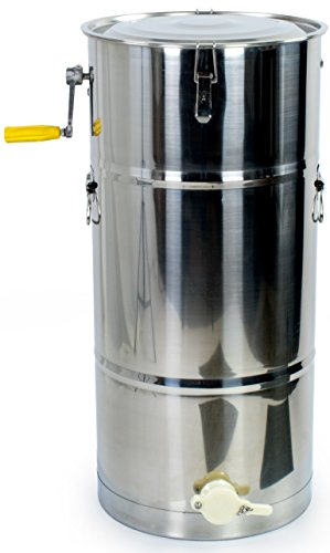 New Two 2 Frame Stainless Steel Bee Manual Crank Honey Extractor SS Honeycomb Spinner Drum (BEE-V002C)