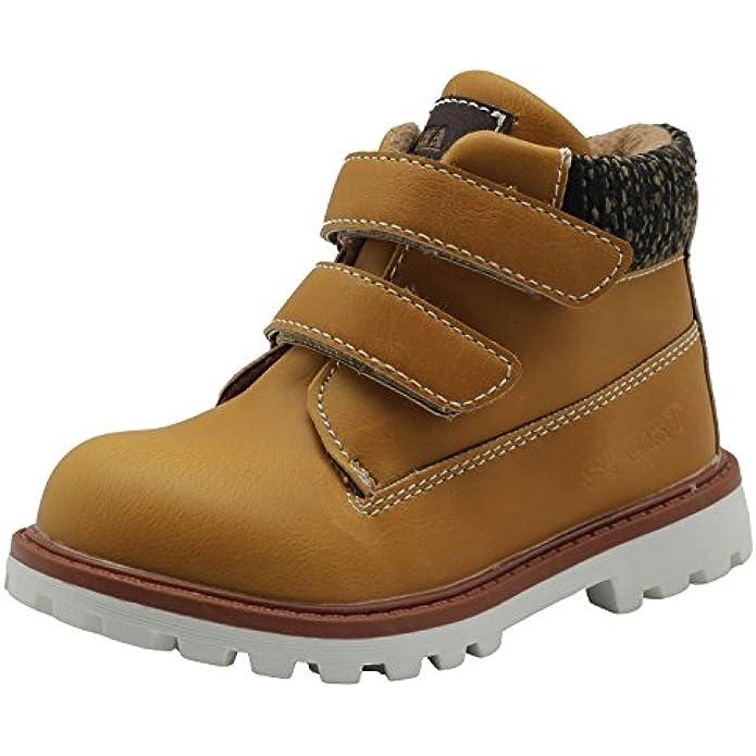 Apakowa Autumn Winter Toddler Boys Cowboy Ankle Boots
