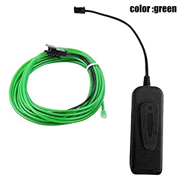 Ohwens EL Wire Neon RGB Color Lights LED Stick Figure Kit Innovation Lights for Clothes