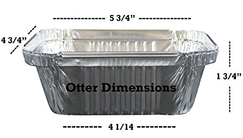"100 Pack of Disposable Takeout Pans with Clear Lids – 1 Lb Capacity Aluminum Foil Food Containers – Strong Seal for Freshness – Eco-Friendly and Recyclable – 5x4"" Inch Drip Pans - By MontoPack by MontoPack (Image #2)"