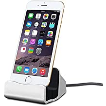 Tomjoy iPhone Charging Dock Station, Lightning Charging Dock for Apple iPhone 8, iPhone X, iPhone 7/7 Plus 6 6S Plus 5 5S