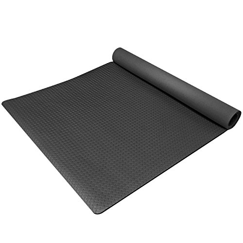 Sivan Health and Fitness® Anti-Fatigue Grip Mat Roll - Exercise Mat High Quality EVA Foam (Black)