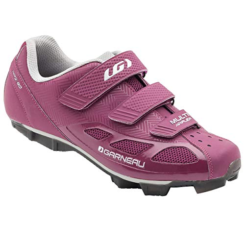 Louis Garneau Women's Multi Air Flex Bike Shoes for Indoor Cycling, Commuting and MTB, SPD Cleats Compatible with MTB Pedals, Magenta/Drizzle, US (8), EU (39)