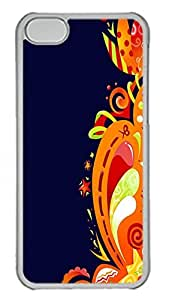 iPhone 5C Case Abstract Flower Swirls PC Custom iPhone 5C Case Cover Transparent wangjiang maoyi