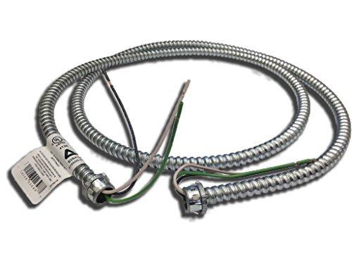 "Anaconda Sealtite 925502-0720 - 3/8"" Reduced Wall Steel Flexible Metal Conduit, RWS FIXTURE WHIP 14/2 STRANDED, 6ft, 10pcs"