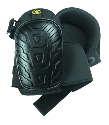 CLC Custom Leathercraft 345  Professional Kneepads, Supportive Gel Cushion, Breathable Neoprene Straps, Over Sized Caps for More Coverage, Ideal for Gardening, Flooring, Cleaning and Construction