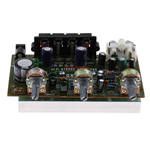 30 Watt Bass Amplifier - Prettyia 12V DX-8250 2x30W Audio Amplifier Power Board Stereo Treble Bass Adjustable