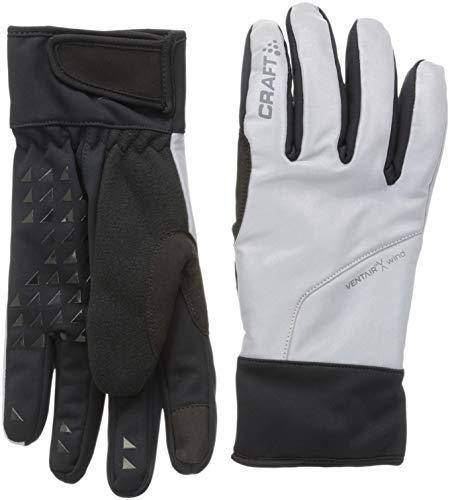 Craft Sportswear Unisex Siberian Glow Waterproof Reflective Bike Cycling Gloves, Black/Silver, Small ()