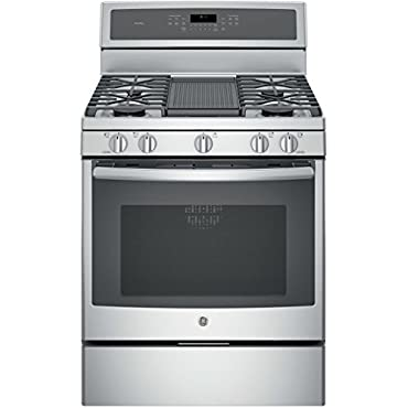 GE PGB911ZEJSS Profile 30 Stainless Steel Gas Sealed Burner Range Convection