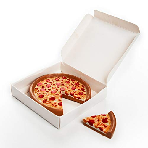 (Pizza Queen Delicious Looking 18 Inch Doll Pepperoni Pizza. Pizza Has Cut Slice and Authentic Style Pizza Box. Great Food Accessories for American Girl Dolls Kitchen &)